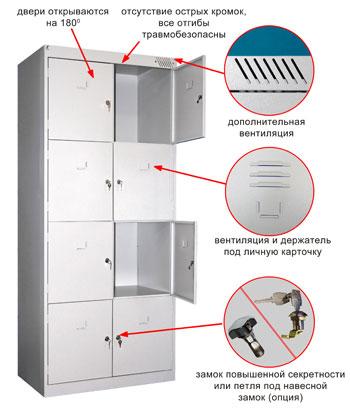 Раздевальный шкаф Metall-Zavod ШРК-28-800
